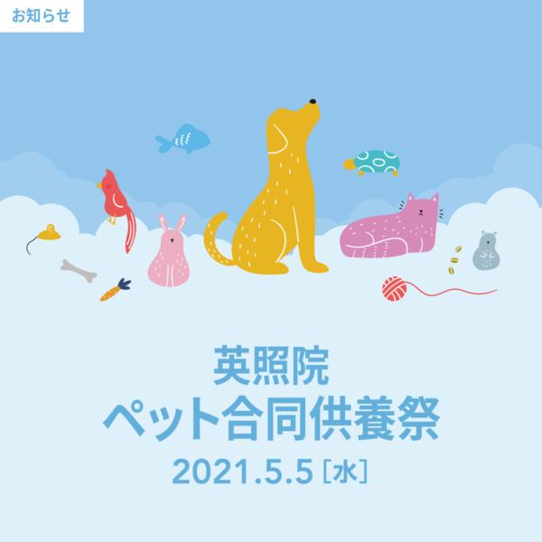 \ペット合同供養祭のお知らせ/